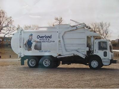 Overland Waste & Recycling Ltd garbage truck